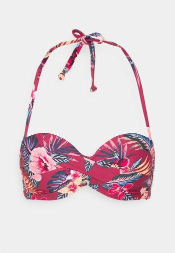 WIRE BANDEAU - Bikini top - rustred