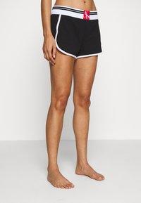 Calvin Klein Underwear - ONE SOCK LOUNGE SLEEP SHORT - Pyjama bottoms - black - 0