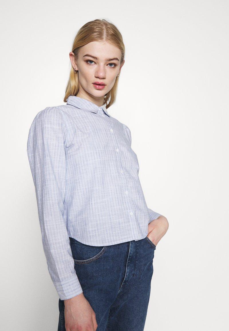 ONLY - ONLLORRY LIFE STRIPE - Button-down blouse - white