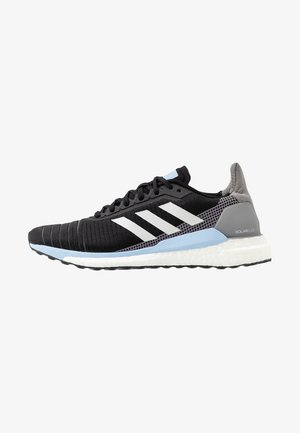 SOLAR GLIDE 19 - Neutral running shoes - core black/grey one/glow blue
