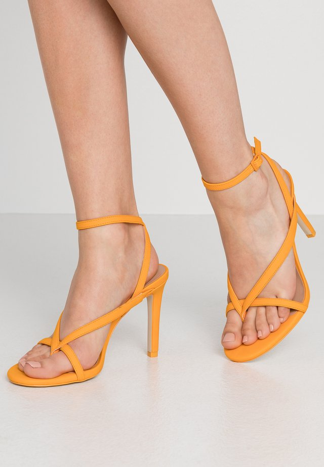 ZELDAA - High heeled sandals - bright orange