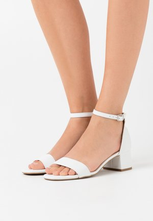 LEATHER  - Riemensandalette - white