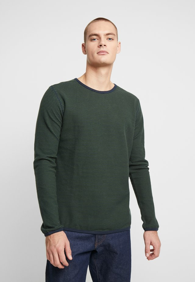 STRIPED DOUBLE LAYER - Sweater - total eclipse
