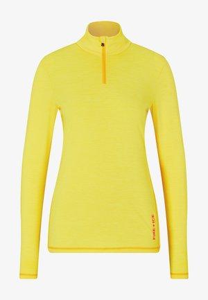 FIRST LAYER MARGO - Long sleeved top - gelb meliert