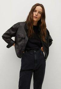 Mango - Slim fit jeans - black denim - 3