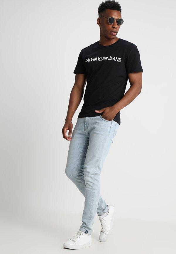 Calvin Klein Jeans CORE INSTITUTIONAL LOGO TEE - T-shirt z nadrukiem - ck black/czarny Odzież Męska SGSM