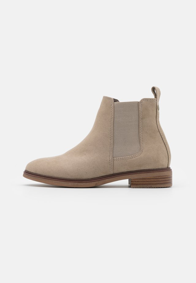 WIDE FIT SOLE CHELSEA - Ankle boots - sand