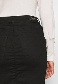 ONLY - ONLBLUSH LIFE SKIRT - Falda de tubo - black - 5