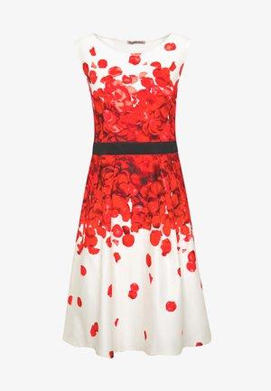 Koktejlové šaty/ šaty na párty - white/red
