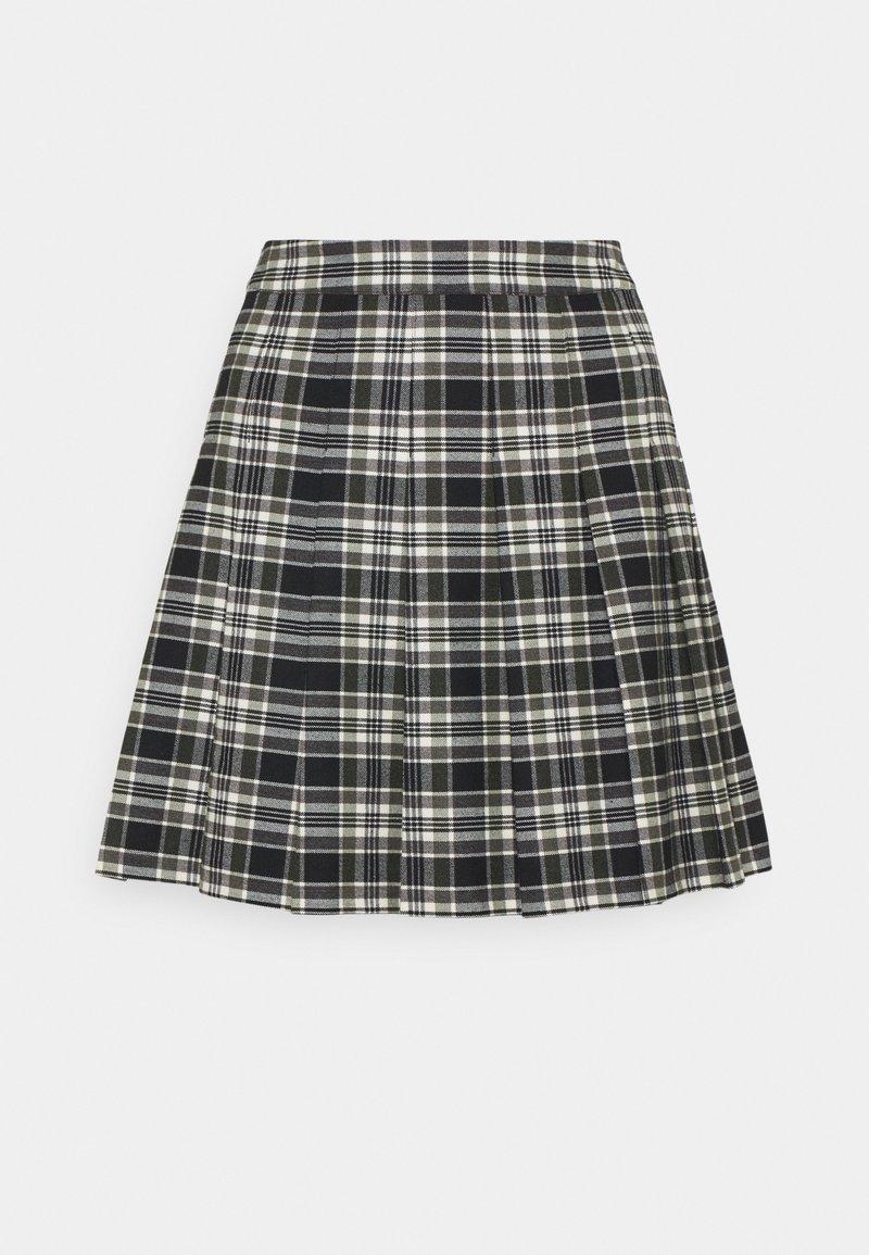 Forever New Petite - TANIA CHECK KILT - Mini skirt - green/black