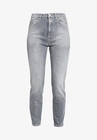 CLOSED - BAKER HIGH  HIGH WAIST CROPPED LENGTH - Slim fit jeans - mid grey - 4