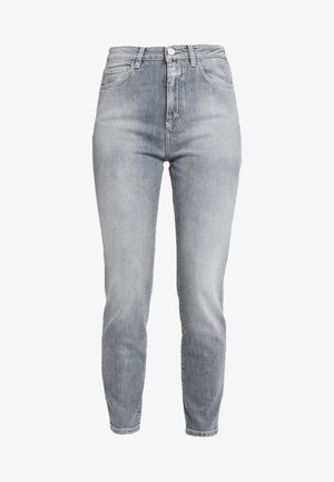 BAKER HIGH  HIGH WAIST CROPPED LENGTH - Vaqueros slim fit - mid grey