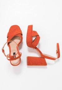 ONLY SHOES - Sandály na vysokém podpatku - orange - 3