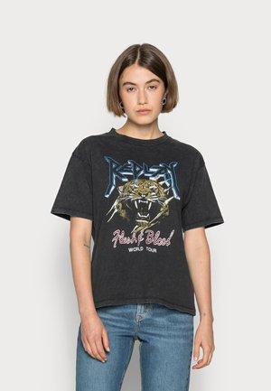 ROCK  - T-shirt imprimé - black