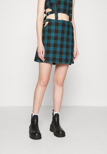 TRINTIY  - Mini skirt - teal lime black