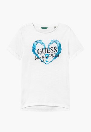 JUNIOR ORGANIC SLUB - T-shirt print - true white