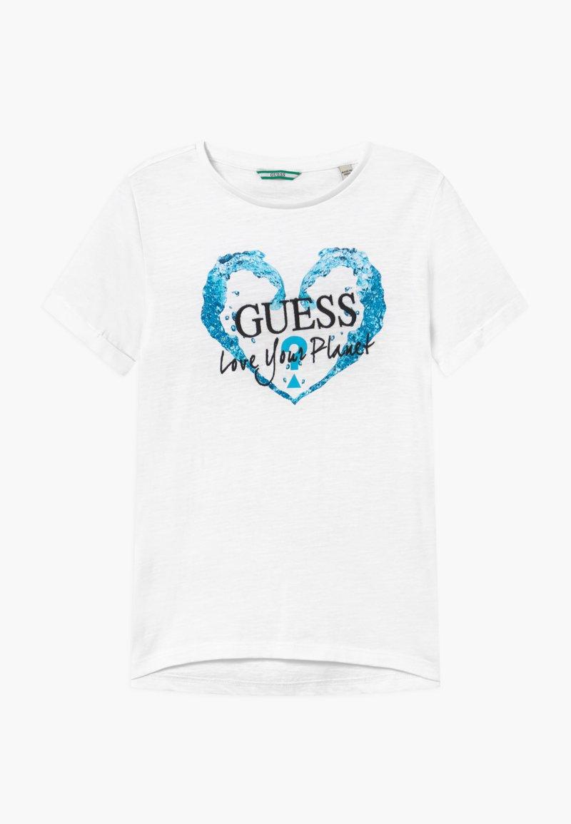 Guess - JUNIOR ORGANIC SLUB - T-shirt print - true white