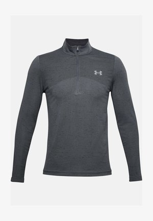 SEAMLESS 1/2 ZIP - Long sleeved top - pitch gray