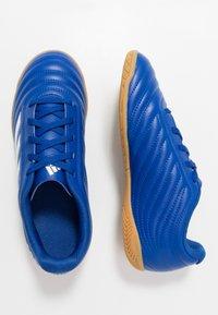 adidas Performance - COPA 20.4 IN - Halové fotbalové kopačky - royal blue/footwear white - 0
