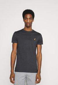 Pier One - Basic T-shirt - dark grey - 0
