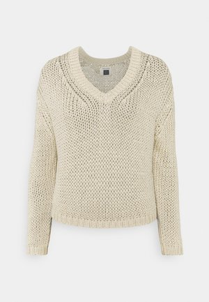 LONG SLEEVE V NECK - Jumper - summer taupe