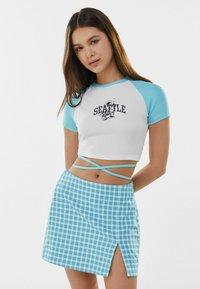 Bershka - A-line skirt - blue - 0