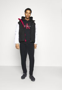 Calvin Klein Jeans - COLOURBLOCK PUFFER - Winter jacket - black/ white / red - 1