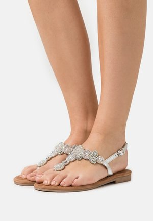 T-bar sandals - silver glam