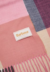 Barbour - PASTEL CHECK SCARF - Szal - pink/hessian - 3