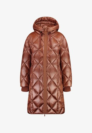 OUTDOOR MIT RAUTENSTEPP - Winter coat - cognac