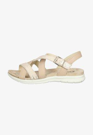 Sandalen met sleehak - biberfarbe/beige