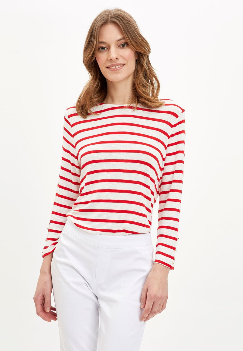 DeFacto - Long sleeved top - red