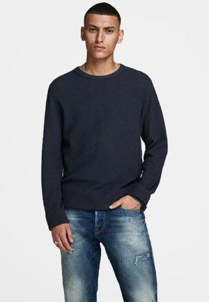 JJESTRUCTURE CREW NECK  - Jumper - navy blazer