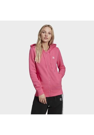 TREFOIL SPORTS INSPIRED SLIM TRACK TOP - Bluza rozpinana - pink
