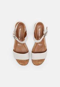 Tamaris - Platform sandals - white - 3