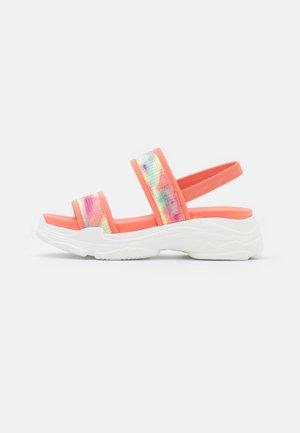 SAMURAI - Platform sandals - coral/multicolor