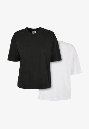 2 PACK - T-shirt basique - white black