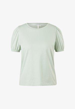 MIT PUFFÄRMELN - Print T-shirt - mint