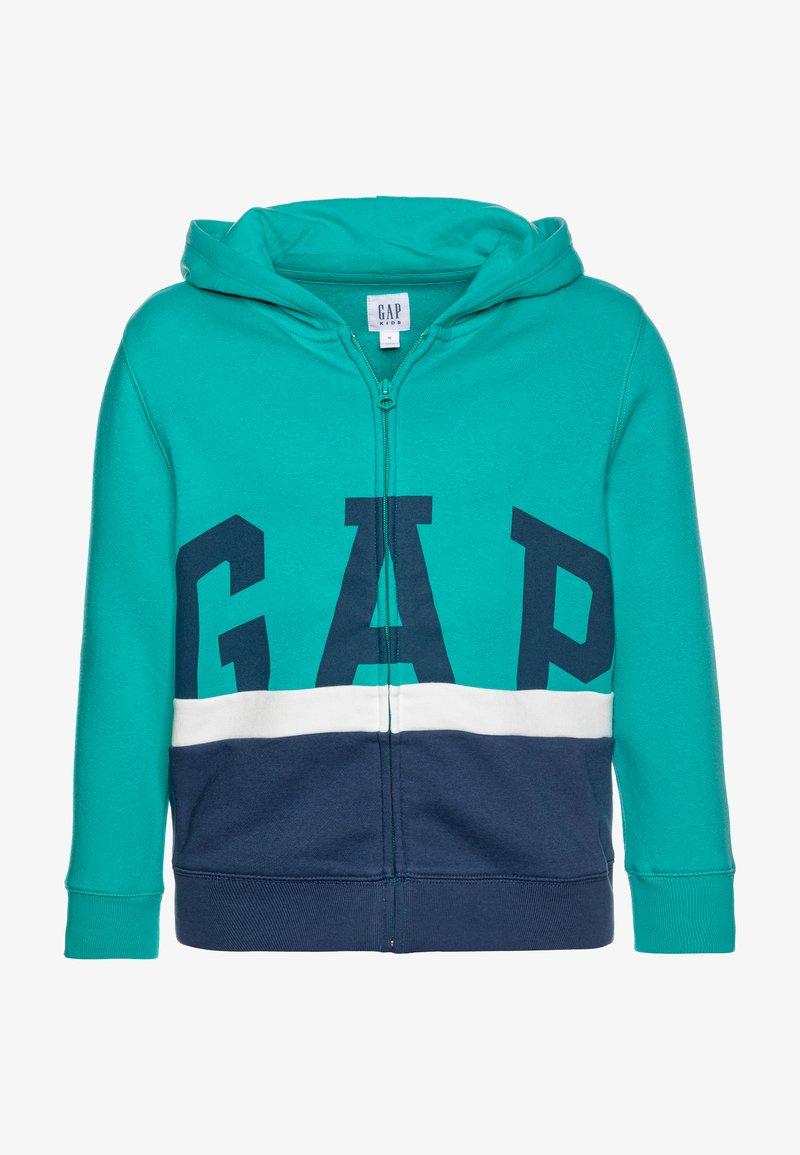 GAP - BOY LOGO - Bluza rozpinana - green mirage