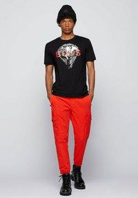 BOSS - TDRAW - Print T-shirt - black - 1