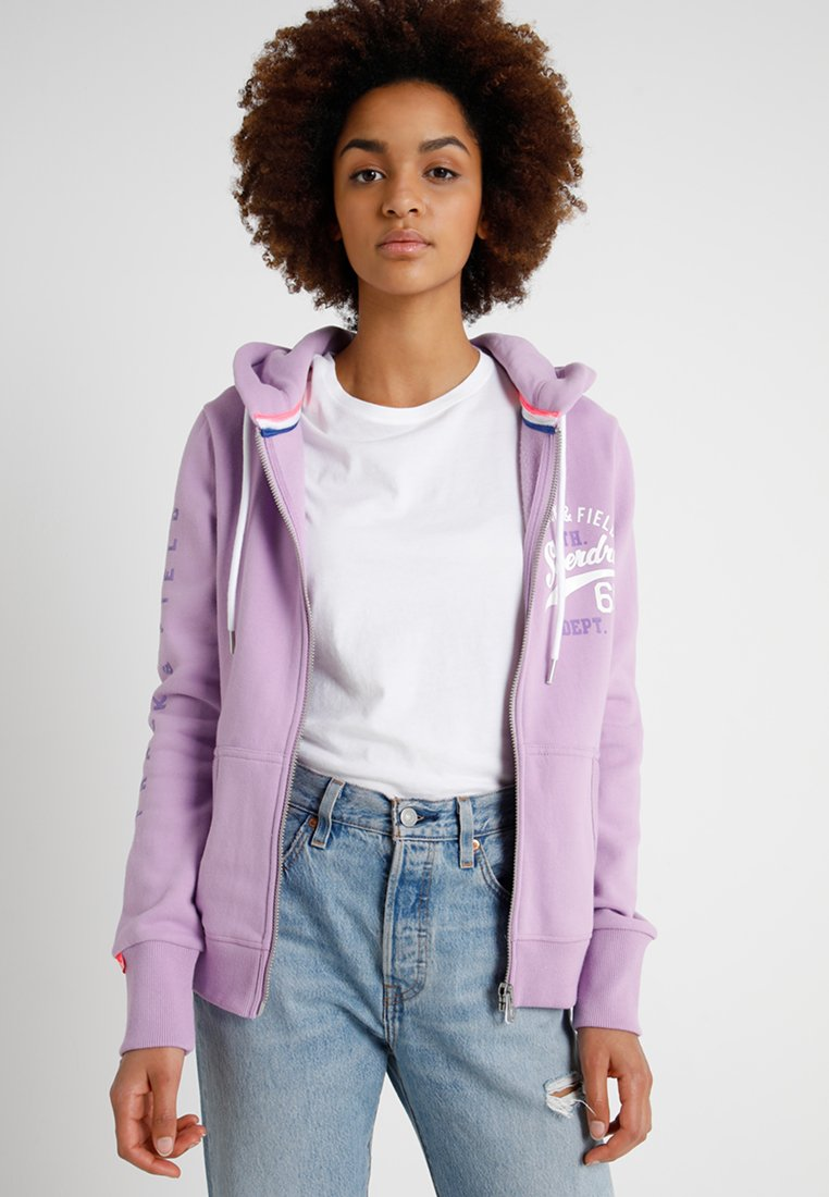 Superdry - Zip-up hoodie - purple
