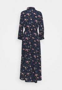 PIECES Tall - PCROSIA MIDI DRESS  - Skjortekjole - black/maritime blue - 1