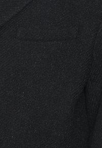 Brixtol Textiles - IAN - Klasický kabát - black melange - 3