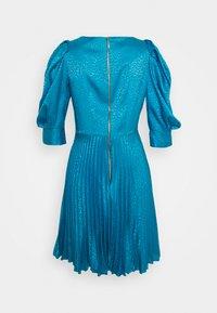Closet - PUFF SLEEVE PLEATED DRESS - Cocktail dress / Party dress - blue - 1
