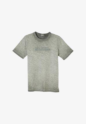 MIT FLAMMGARN-STRUKTUR - Print T-shirt - khaki