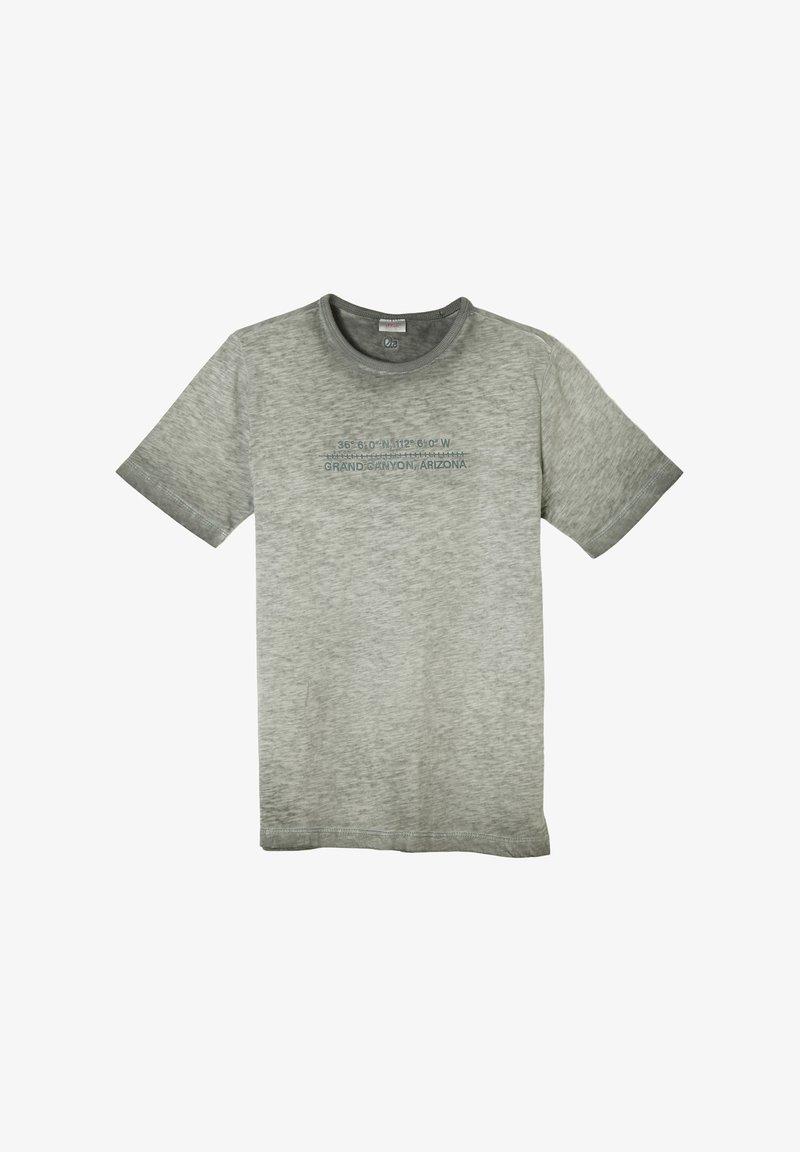 s.Oliver - MIT FLAMMGARN-STRUKTUR - Print T-shirt - khaki