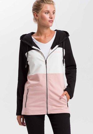 Zip-up hoodie - light-pink
