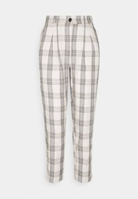 b.young - BYDOTHA CHECKED PANTS - Trousers - birch mix - 0