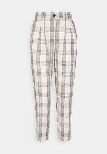 BYDOTHA CHECKED PANTS - Trousers - birch mix