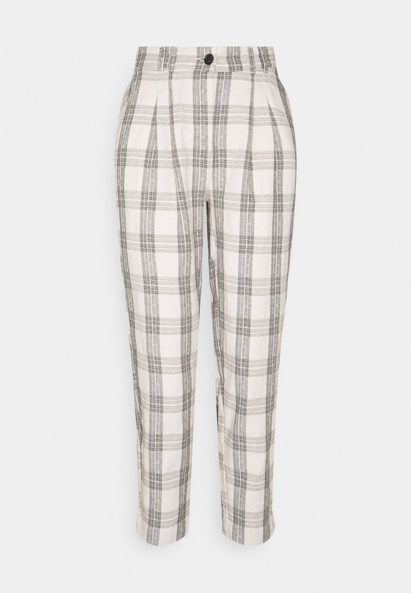 b.young - BYDOTHA CHECKED PANTS - Trousers - birch mix